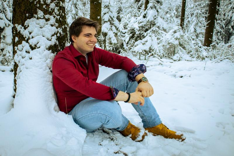 Philipp im Schnee