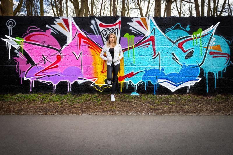 Graffitishooting Pia