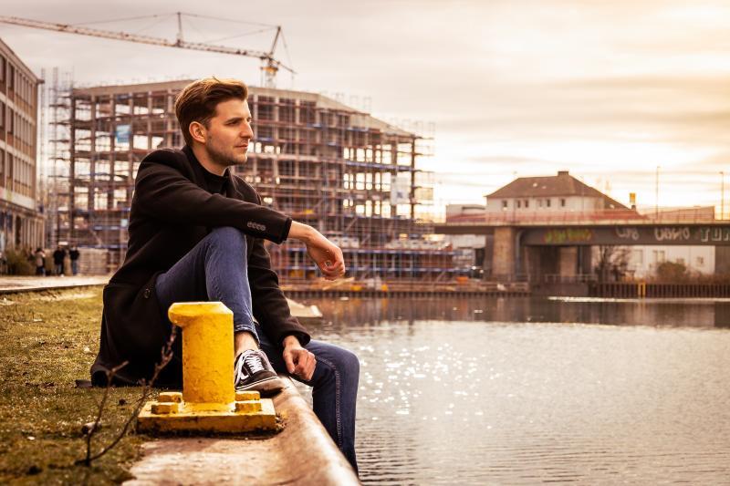 Daniel am Dortmunder Hafen