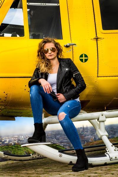 Helikoptershooting Pia