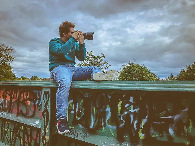 Philipp beim Fotografieren